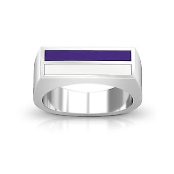 Northwestern University ring i sterling sølv design af BIXLER