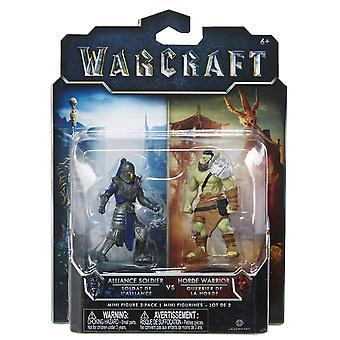 World Of Warcraft Mini Figure 2 Pack Alliance Solider & Horde Warrior