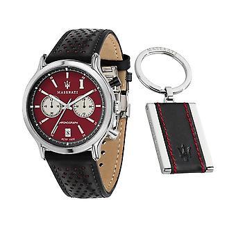 Maserati heren horloge legende R8871638002 Limited Edition + sleutelhanger