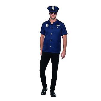 US Cop Costume, Cops & Robbers Fancy Dress, Large