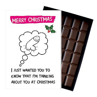 Funny Christmas Gift For Women Girlfriend Chocolate Xmas Greeting Card Present for Her OD129