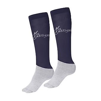 Lemieux Lemieux My Lemieux meias competição-azul marinho (Twin Pack)