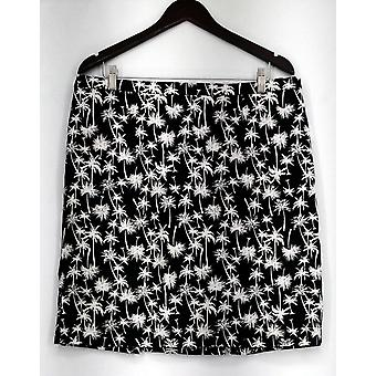 Jacklyn Smith Skirt Palm Tree Print White/ Black New