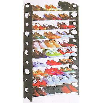 Cipőtartó 30 pár fém H156 cm cipő tároló