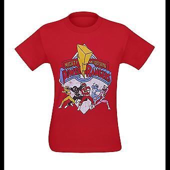 Power Rangers retro Rangers miesten ' s T-paita
