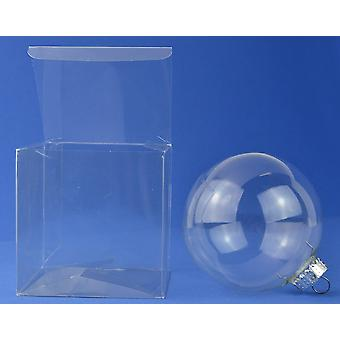 10 Acetate Cube Box Presentation Boxes for Gifts or Baubles 10cm