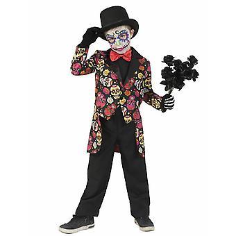 Kuolleiden päivä pikkulasten puku Carnival Carnival puku lapset muerto Manu Halloween