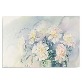Painel do deco, flores brancas 3
