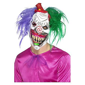Mens Kolorful Killer Klown Mask Halloween Fancy Dress Accessory