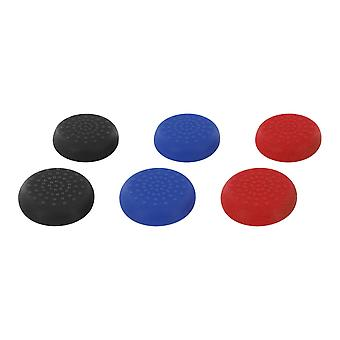 Tpu thumb grip stick caps for nintendo switch pro controller - 6 pack multi colour