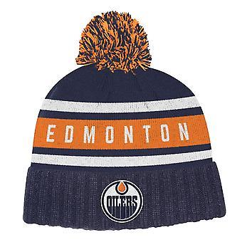 Adidas Nhl Edmonton Oilers Culture Cuffed Pom Knit