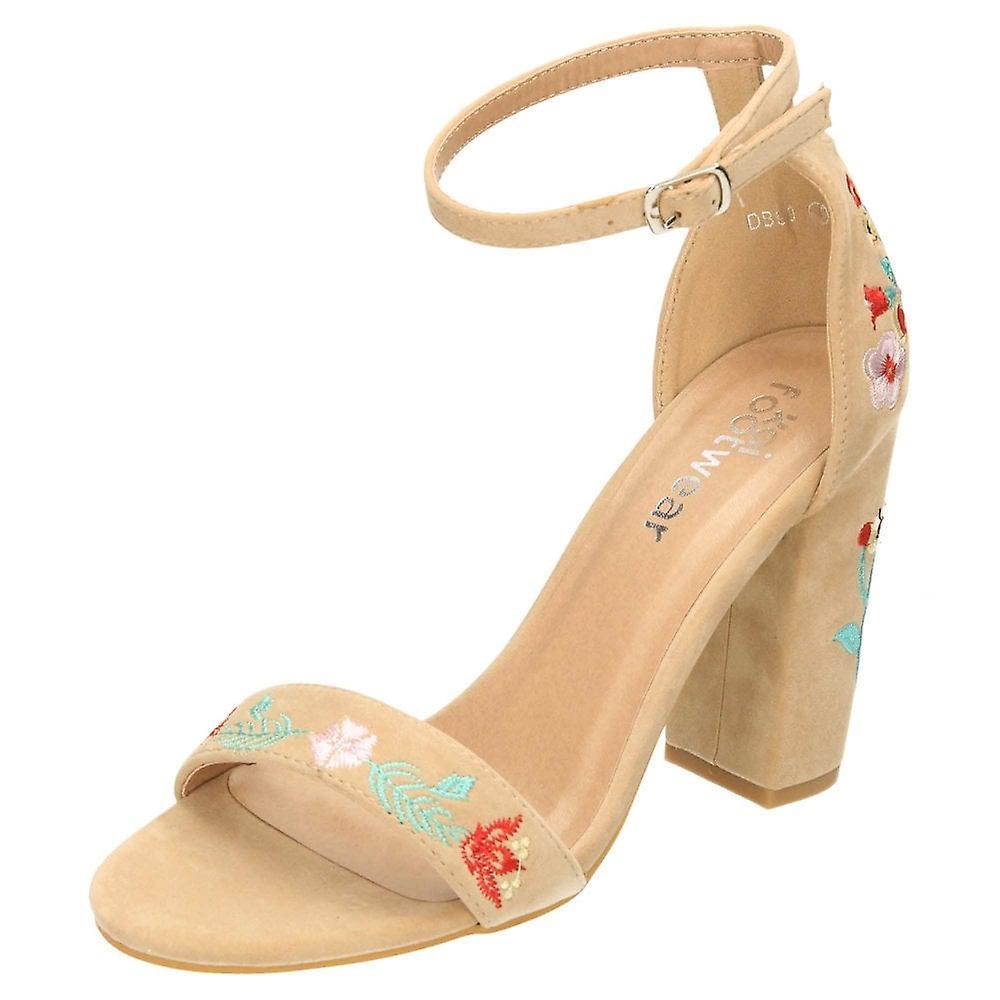 Koi Footwear 2 Part Ankle Strap Block Heel Open Toe Sandals Shoes