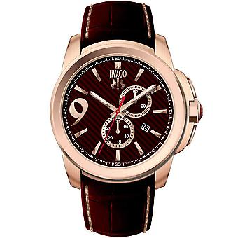 Jivago Men's Gliese Maroon Dial Watch - JV1511