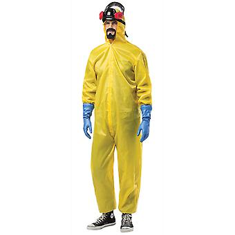 Breaking Bad Hazmat Haz-Mat Suit Hazard Chemical Adult Mens Costume Plus 3XL