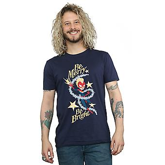 Marvel Men's Be Merry Be Bright T-Shirt