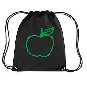 Zainetto nero wes0231 green apple with leaf