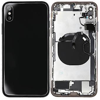 Space Grey/zwart iPh XS Max behuizing met kleine onderdelen | iParts4U