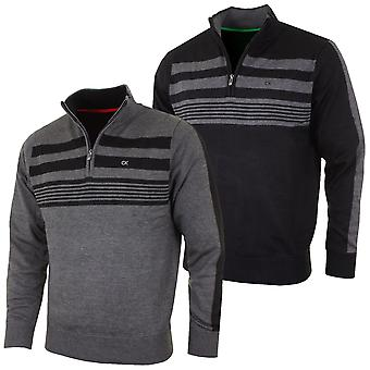 Calvin Klein Golf Mens 2021 CK Stripeblock Lined Sweater