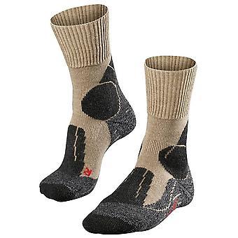 Falke trekking 1 ekstra styrke sokker-natur melange beige