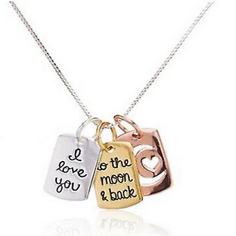 I love you to the moon & back pendant necklace