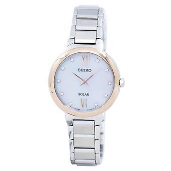 Seiko Classic Solar Diamond accent SUP382 SUP382P1 SUP382P kvinnor ' s Watch