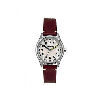 Freegun Watch EE5260 - Steel Leather Bracelet Red Blackout White Junior