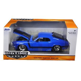 1970 Ford Mustang Boss 429 Blue 1/24 Diecast Model Car par Jada
