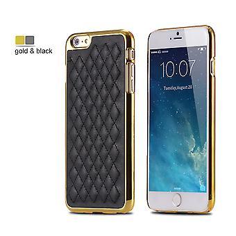 Exclusif Iphone 6S 6 coque en cuir à motifs noir
