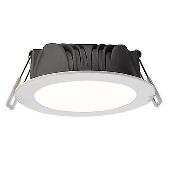 Lampada a soffitto incassata a LED Reticuli 3 Colour 10 W bianco regolabile D 103 mm dimmable bianco alluminio IP20
