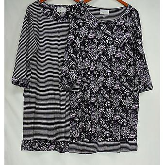 Carole Hochman Frauen's Sleepshirt gedruckt stricken Set lila A294073