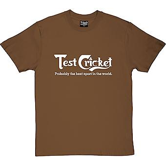 Test Cricket: Probably The Best Sport In The World Chestnut Men's T-Shirt