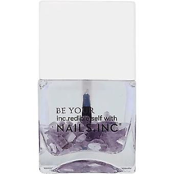 Nails inc Crystals Made Me Do It Nail Polish Collection - 45 Second Amethyst Top Coat 14ml