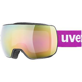 Uvex máscara de esquí compacto FM negro rosa espejo claro