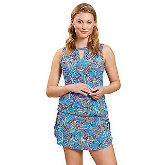 R-sch 1205538-16569 Vestido de Playa de Plumas Multicolores