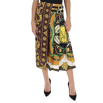 Versace A85363a233263a7606 Women's Multicolor Silk Skirt
