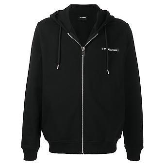 Les Hommes Lih505753p9000 Men's Black Cotton Sweatshirt