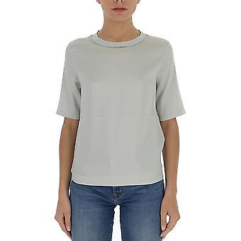 Fabiana Filippi Tpd260w766a5858143 Women's Grey Cotton T-shirt
