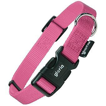 Gloria Pets Adjustable Nylon Collar Rosa Liso