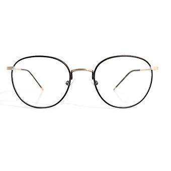 Gotti Abou GB-BR óculos dourados-marrons escovados