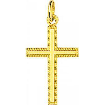 750/1000 yellow gold cross pendant (18K)