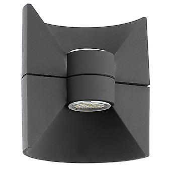 Eglo Redondo - LED Outdoor Up Down Wall Light Antraciet IP44 - EG93368