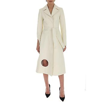 Off-white Owja026s20lea0010100 Women's White Cotton Trench Coat