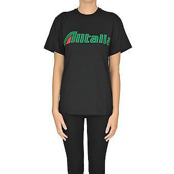 Alberta Ferretti Ezgl095020 Women's Black Cotton T-shirt