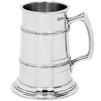 Celtic 2 Band manometru de mare Pewter Tankard-1 halbă +