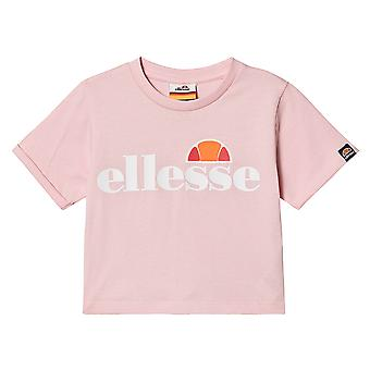 Ellesse Heritage Nicky Youth Kids Girls Cropped Top T-Shirt Tee Light Pink