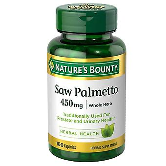Nature's bounty saw palmetto, 450 mg, capsules, 100 ea
