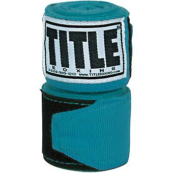 "Title Boxing 180"" Semi Elastic Mexican Handwraps - Turquoise"