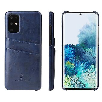 For Samsung Galaxy S20 Case Deluxe Leather Protective Cover Blue