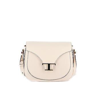 Tod's Xbwtsic0100o01c016 Women's White Leather Shoulder Bag