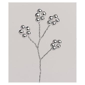 Culpitt perler sølv/sølv farve wire